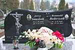 Tomb of Romuald Bobrzak and Jerzy Smolak at Central Cemetery in Sanok 2.jpg