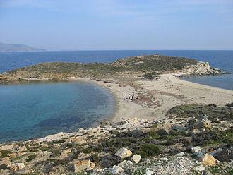 Tombolo - Tombolo near Karystos, Euboea, Greece