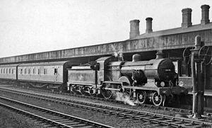 Tonbridge railway station - Down stopping train from Redhill in 1958