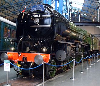 LNER Peppercorn Class A1 60163 Tornado - Tornado at the National Railway Museum in York, 14 December 2008