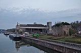 Tournai, BE (DSCF5144) 19th century lime kiln standing next to a modern factory.jpg