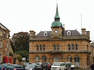 Towcester town in Northamptonshire, England