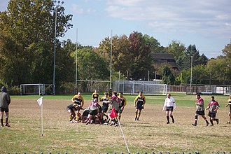 Rugby union in the United States - A club match at Towson University in 2005.