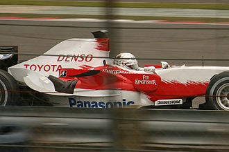 2007 British Grand Prix - Jarno Trulli set the fastest time of the second test day in his Toyota TF107.