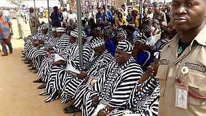 Tiv people - A group of Tiv chiefs at an event