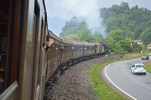 Novara–Varallo railway - The trip on the historic train, near Borgosesia
