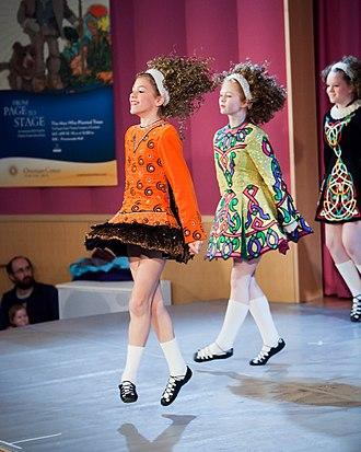 Irish stepdance - Irish dancers performing at a show