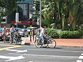 Trishaws in downtown Singapore - 20060529.jpg