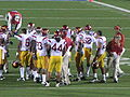 Trojans in huddle at USC at Cal 2009-10-03 2.JPG