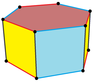 Hexagonal prism - Image: Truncated triangle prism