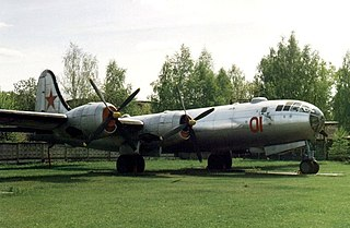 Tupolev Tu-4 Strategic bomber aircraft reverse engineered from Boeing B-29