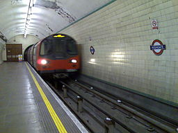 Tube entering Highgate station