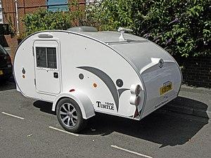 Teardrop trailer - The Turtle 1500 is a modern commercial teardrop trailer.
