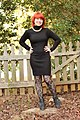 Turtleneck Bodycon Sweater Dress, Lace Tights, Gold Choker, and Ankle Boots.jpg