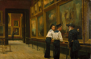 Edward R. Taylor -  Twas a Famous Victory by Edward Richard Taylor 1883.  Birmingham Museum and Art Gallery,