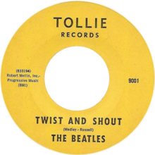 Description de l'image Twist and Shout by The Beatles Side-A US vinyl.png.
