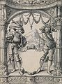 Two Swiss Mercenaries, design for a Stained Glass Window, workshop of Hans Holbein the Younger.jpg