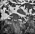 Tyeen Glacier, mountain glacier terminus', firn line, and glacial remnents, August 24, 1987 (GLACIERS 5960).jpg