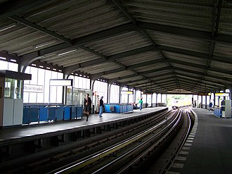 Möckernbrücke (Berlin U-Bahn) - Platform of the U1 and U3