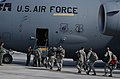 U.S. Airmen with the 36th Contingency Response Group board a C-17 Globemaster III aircraft at Andersen Air Force Base, Guam, before departing for a mission in support of Operation Damayan in Tacloban 131115-F-NA975-188.jpg