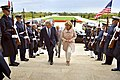 U.S. Defense Secretary Chuck Hagel hosts an honor cordon to welcome Dutch Defense Minister Jeanine Hennis-Plasschaert to the Pentagon 141007-D-NI589-028c.jpg