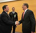 U.S. Secretary of Defense Ash Carter meets Canadian Minister of National Defense Jason Kenney at NATO Headquarters in Brussels, Belgium.jpg