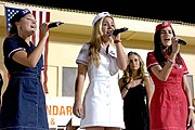 """Girl group UC3 sing """"The Star-Spangled Banner"""" for U.S. troops in Afghanistan"""
