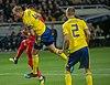 UEFA EURO qualifiers Sweden vs Romaina 20190323 Andreas Granqvist and Mikael Lustig.jpg