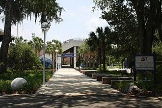 Florida Gators men's tennis - Linder Stadium at Ring Tennis Complex, location of the home courts of the Florida Gators men's tennis team.