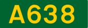 A638 road shield
