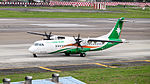 UNI Air ATR 72-600 B-17001 Departing from Taipei Songshan Airport 20150321a.jpg