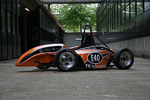 Eindhoven University of Technology - The full electric Formula Student car developed and built by 60 students of the Eindhoven University of Technology