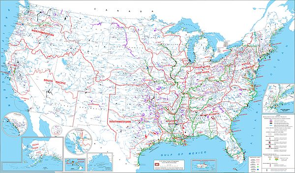 United States Army Corps Of Engineers Wikipedia - Us corps of engineers maps