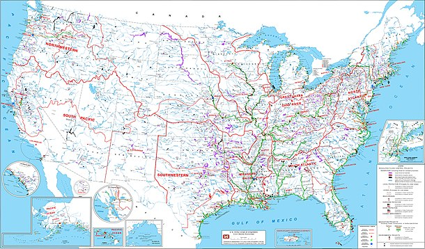 United States Army Corps Of Engineers Wikipedia - Us-army-corps-of-engineers-district-map