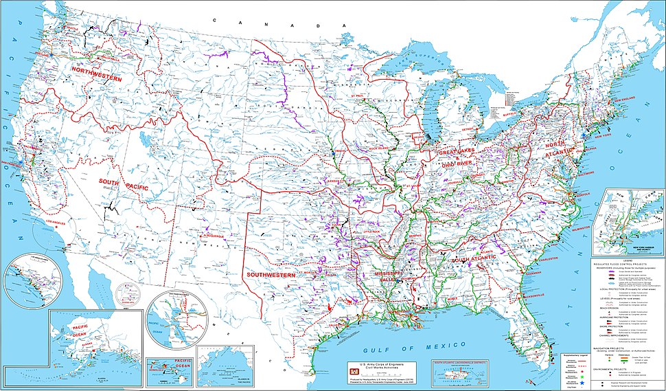 USACE Project map 2005