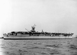 USS Belleau Wood (CVL-24) - Belleau Wood off Philadelphia Navy Yard, 18 April 1943
