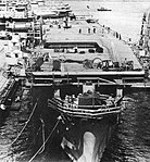 USS Gilbert Islands (CVE-107) being reactivated at the Boston Naval Shipyard, in 1952.jpg