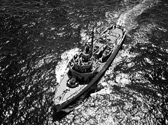 USS Impervious (AM-449) - Impervious in 1954.