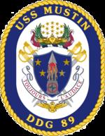 USS Mustin DDG-89 Crest