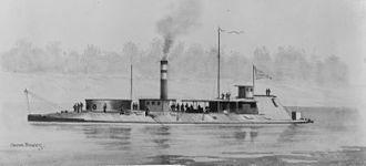 River monitor - The Civil War era river monitor Neosho.