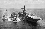 USS Passumpsic (AO-107) refuels USS Ticonderoga (CVA-14) in 1963.jpg