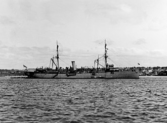 USS Prairie (AD-5) - Image: USS Prairie (AD 5) at anchor off San Diego, circa in 1920 (NH 69424)