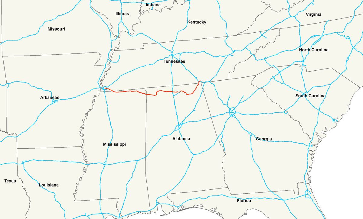 US Route Wikipedia - Alabama in us map