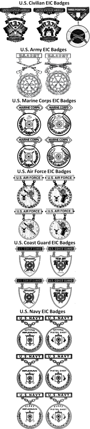 US Excellence in Competition Badges