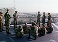 US Marines, 3rd Assault Amphibious Battalion, during a sexual harassment class on the deck of the Dock Landing Ship, USS ANCHORAGE (LSD 36) during Exercise KERNAL BLITZ 990416-M-OC272-001.jpg