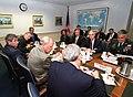 US Navy 010912-D-2987S-124 President Bush meets with DOD leadership following attacks on the Pentagon.jpg