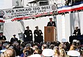 US Navy 030107-N-3211R-005 Rear Adm David T. Hart, Jr., Deputy Commander of Naval Region Europe was the guest speaker at the decommissioning ceremony held for the Spruance class destroyer USS Kinkaid (DD 965).jpg