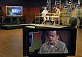 US Navy 050726-N-2383B-039 Chief of Naval Operations (CNO), Adm. Mike Mullen, is interviewed by Journalist 1st Class Tony Sisti assigned to Navy Marine Corps News (NMCN) at Naval Media Center Anacostia.jpg