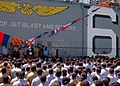 US Navy 060523-N-5822P-072 Vice President Dick Cheney addresses Sailors, Marines and their families at a rally to honor Expeditionary Strike Group One (ESG-1).jpg