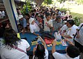 US Navy 060528-N-8391L-456 Patients line up by the thousands to register for medical and dental treatment at Recodo Elementary School, by visiting medical staff from the U.S. Navy's Military Sealift Command (MSC) hospital.jpg